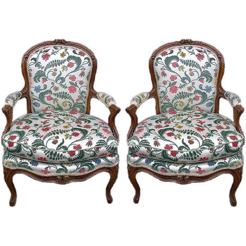 Pair of Louis XV Provincial Fauteuils