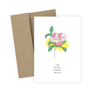 I Am So Very Thankful For You: Greeting Card