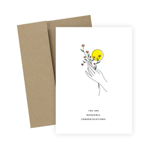 You Are Incredible. Congratulations!: Greeting Card
