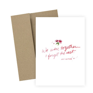 We Were Together: Greeting Card