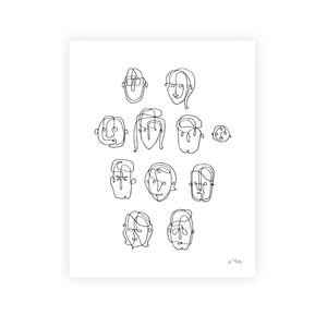 Everyday People: 11x14 Art Print
