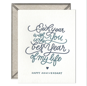 INK MEETS PAPER - Each Year With You Greeting Card