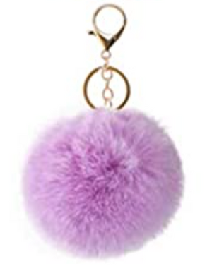 Keychain Puff Ball