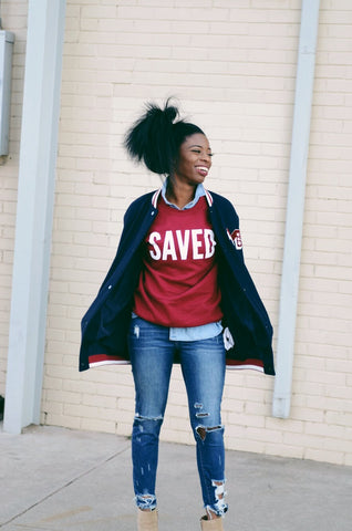 Womens Saved Sweatshirt