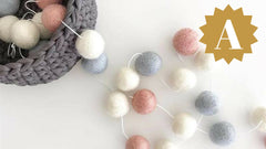 pom pom garland gifts for her mothers day valentines decor interior design