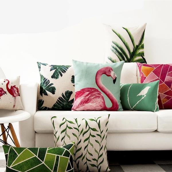 tropical print cushions decision decor elm and blue nordic inspiration
