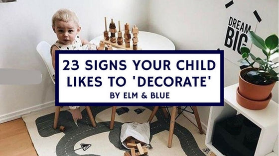 23 signs your child likes to decorate