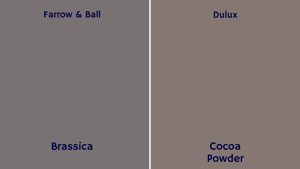 Farrow & Ball Dulux paint colours browns