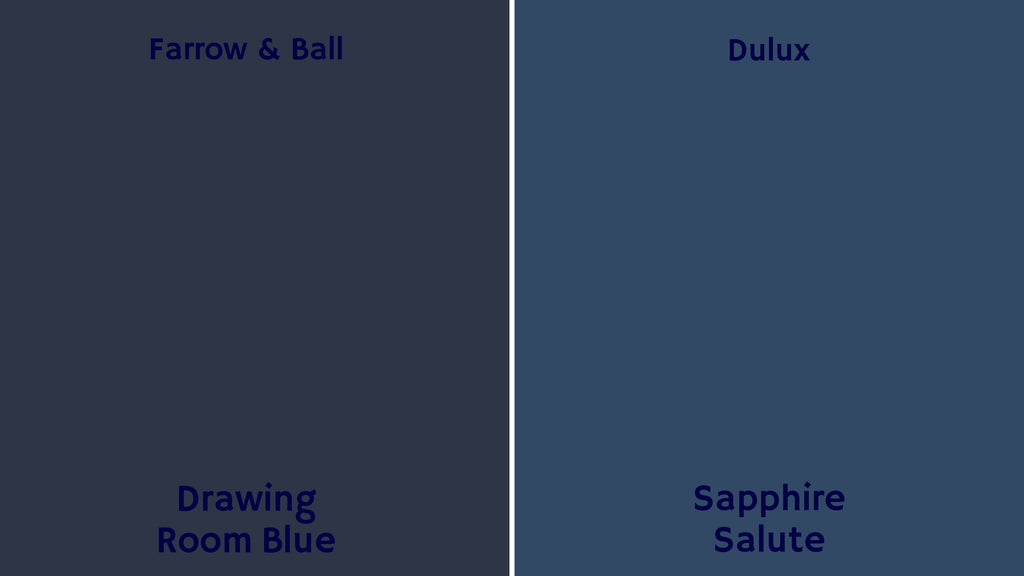 Farrow & Ball Dulux paint colours palette