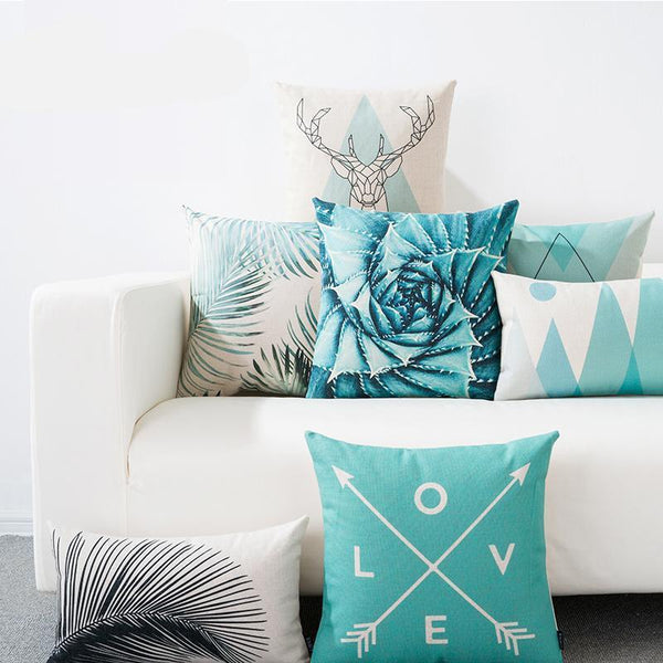 aqua cushion covers elm and blueneordic home design decor accessories