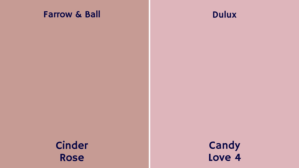pink farrow and ball deluxe palette paint colours