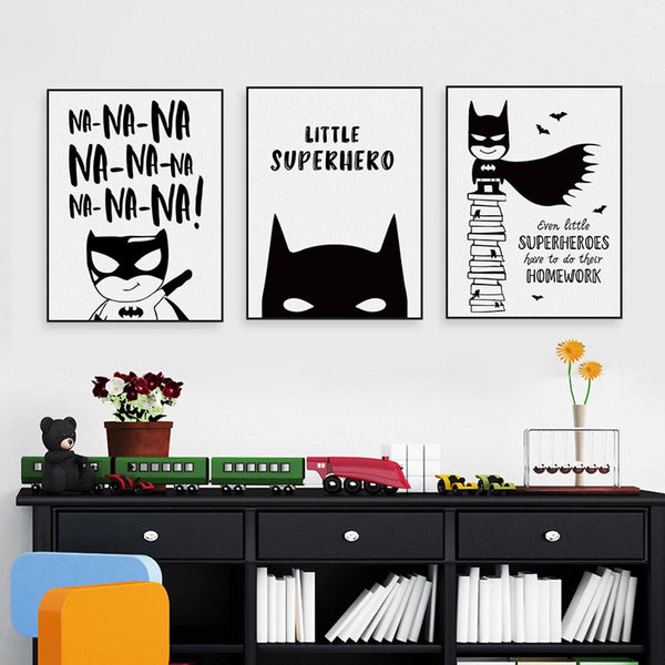 superhero canvas elm and blue nordic home accessories