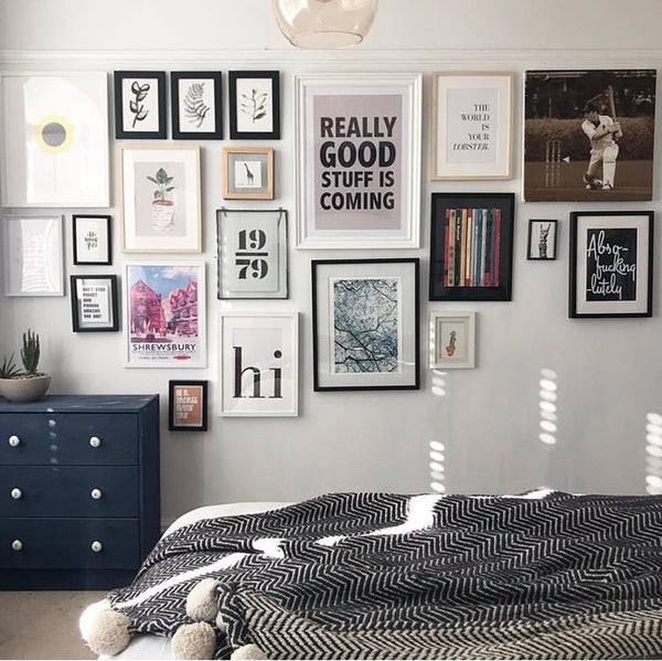17 eclectically cool bedrooms instagram ideas decor decoration design inspiration colour paint bed cushion throw soft furnishing plants prints walls best nice stylish trendy bedside table art