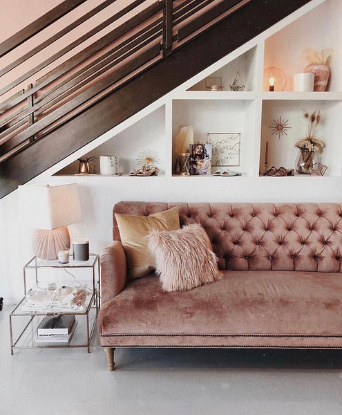 top home decor trends of 2019 this year best ideas feminine must-have desire floral macrame adornments additions detail attention decoration bedroom cushions throws cupboard handles brass bronze gold pink dusty beige wallpaper pom pom tassel throw bed