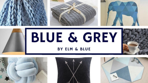blue and grey mood board