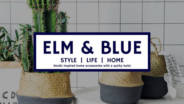 elm and blue nordic home decor accessories Scandinavian