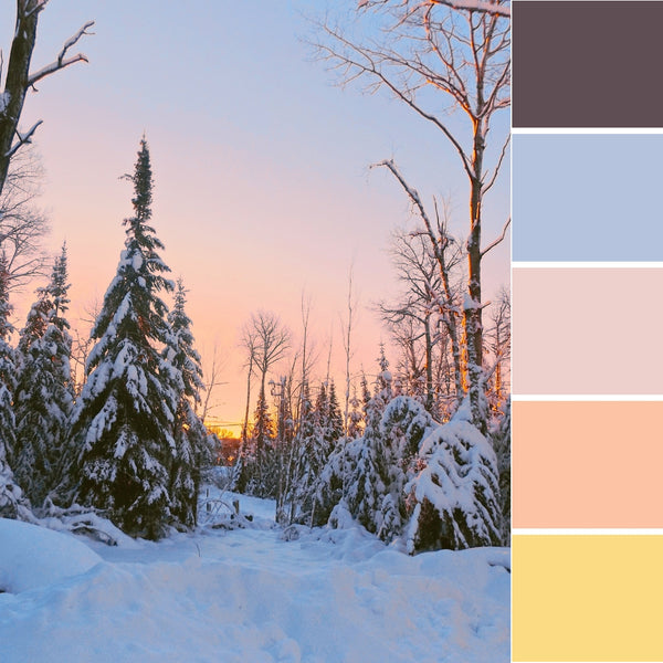 winter wonderland colour inspiration inspo ideas palette design decor cool color paint decoration snow cold dreamy
