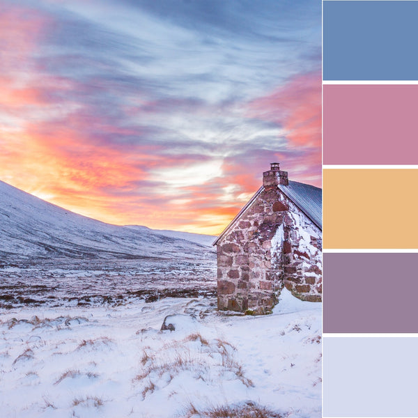 winter wonderland colour inspiration inspo ideas palette design decor cool color paint decoration snow cold dreamy festive Christmas gift