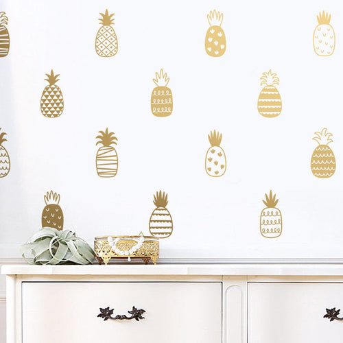 Pineapple Art Wall Sticker, Wall Sticker, Nordic Home Accessories, Elm & Blue, Style Life Home