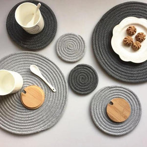 Thick Placemats and Coasters, Ornament, Nordic Home Accessories, Elm & Blue, Style Life Home
