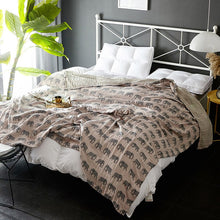 Imprinted Luxury Comforter, Throw, Nordic Home Accessories, Elm & Blue, Style Life Home