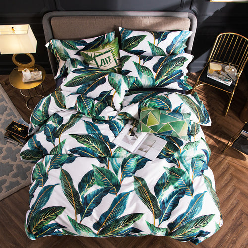 Forest Leaves Bedding Set, Bedding, Nordic Home Accessories, Elm & Blue, Style Life Home