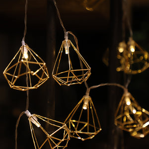 Fairy Lights Diamond Garland, Light, Nordic Home Accessories, Elm & Blue, Style Life Home