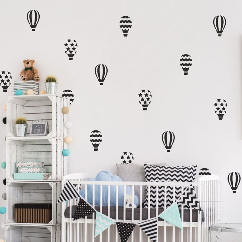 Hot Air Balloons Wall Stickers, Wall Sticker, Nordic Home Accessories, Elm & Blue, Style Life Home