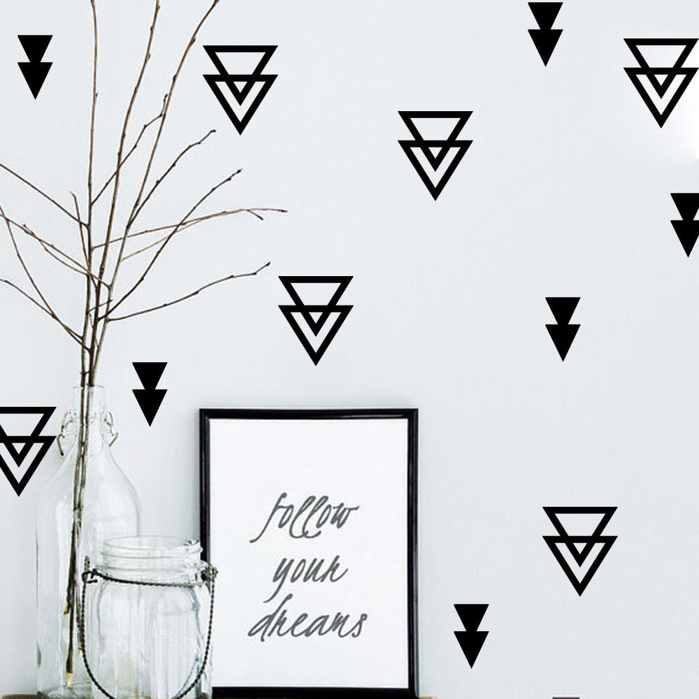 Geometric Triangle Wall Stickers, Wall Sticker, Nordic Home Accessories, Elm & Blue, Style Life Home