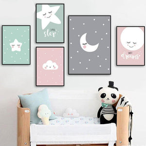 Kids Cartoon Wall Art, Wall Art, Nordic Home Accessories, Elm & Blue, Style Life Home