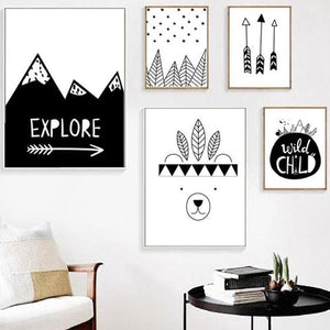 Adventure Kids Wall Art, Wall Art, Nordic Home Accessories, Elm & Blue, Style Life Home