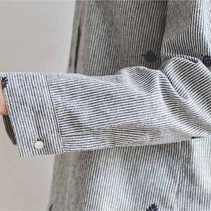 Leaf Linen Shirt, Clothing, Nordic Home Accessories, Elm & Blue, Style Life Home