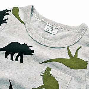 Dinosaur T Shirt, Clothing, Nordic Home Accessories, Elm & Blue, Style Life Home
