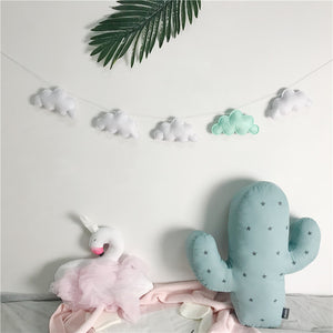 Felt Cloud Garland, Garland, Nordic Home Accessories, Elm & Blue, Style Life Home