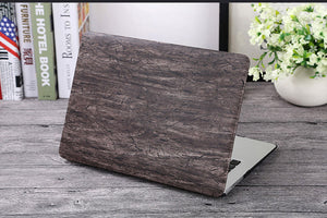 Wood Grain Macbook Cover, Device Cover, Nordic Home Accessories, Elm & Blue, Style Life Home
