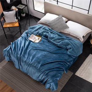 Luxury Velvet Blanket, Throw, Nordic Home Accessories, Elm & Blue, Style Life Home