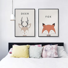 Cartoon Animal Wall Art, Wall Art, Nordic Home Accessories, Elm & Blue, Style Life Home