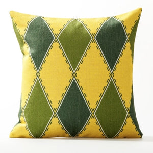 Yellow and Green Cushion Covers