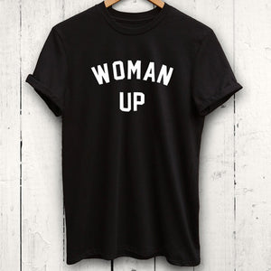 Woman Up T Shirt, Clothing, Nordic Home Accessories, Elm & Blue, Style Life Home