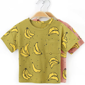 Banana Printed T Shirt, Clothing, Nordic Home Accessories, Elm & Blue, Style Life Home