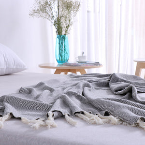 Diamond Pattern Soft Throw, Throw, Nordic Home Accessories, Elm & Blue, Style Life Home