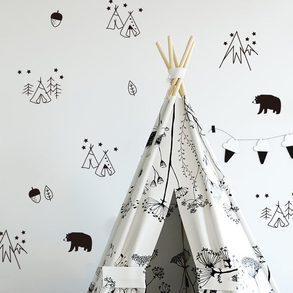 Wild Camping Wall Stickers