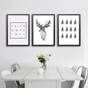 Deer and Quote Canvas, Wall Art, Nordic Home Accessories, Elm & Blue, Style Life Home