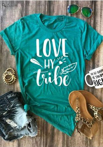 Tribe T Shirt, Clothing, Nordic Home Accessories, Elm & Blue, Style Life Home