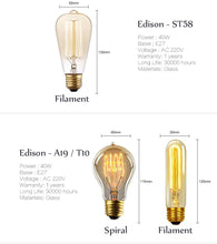Edison Light Bulbs, Light, Nordic Home Accessories, Elm & Blue, Style Life Home