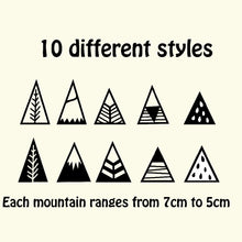 Mountain Wall Sticker, Wall Sticker, Nordic Home Accessories, Elm & Blue, Style Life Home
