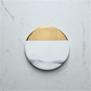 Gold and Marble Coasters, Ornament, Nordic Home Accessories, Elm & Blue, Style Life Home