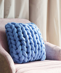 DIY Knitted Blanket Material, Cushion, Nordic Home Accessories, Elm & Blue, Style Life Home