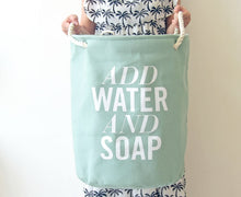 'Add Water' Laundry Basket, Storage, Nordic Home Accessories, Elm & Blue, Style Life Home