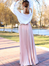 Pleated Maxi Skirt, Clothing, Nordic Home Accessories, Elm & Blue, Style Life Home